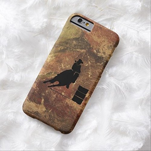 Barrel Racing Girl Silhouette On A Grunge Texture IPhone 6/6s Plus Case Fashion Cover - Barrel Racing Basics