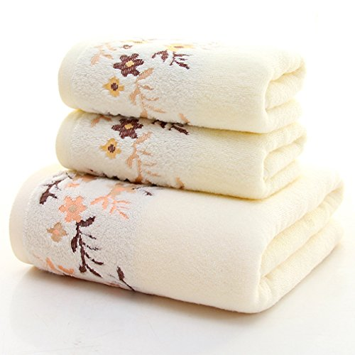 Generic 3 Piece Towel Set; 1 Bath Towel, 2 Hand Towels Cotto
