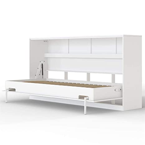 Smartbett Basic Cama Abatible Cama Plegable Cama De Pared Blanco 90 X 200 Cm Horizontal