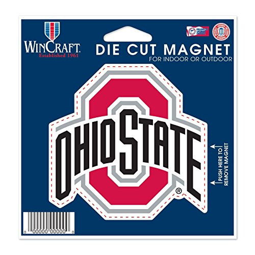"WinCraft NCAA Ohio State University Die Cut Magnet, 4.5"" x 6"""