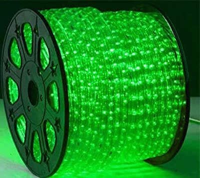 GREEN 12 Volts DC LED Rope Lights Auto Lighting 15 Meters(49.2 Feet)