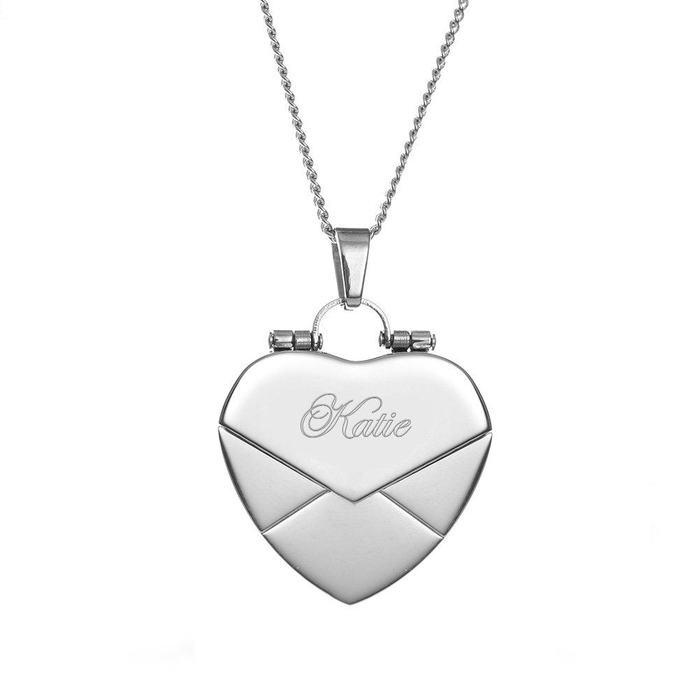 Eve's Addiction Secret Message Envelope Heart Locket