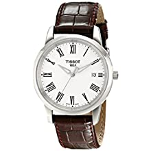 Men's T-Classic Brown Leather Strap Watch T0334101601300