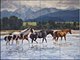 Ceramic Tile Mural - Summer In The Valley- by Claire Goldrick - Kitchen backsplash / Bathroom shower