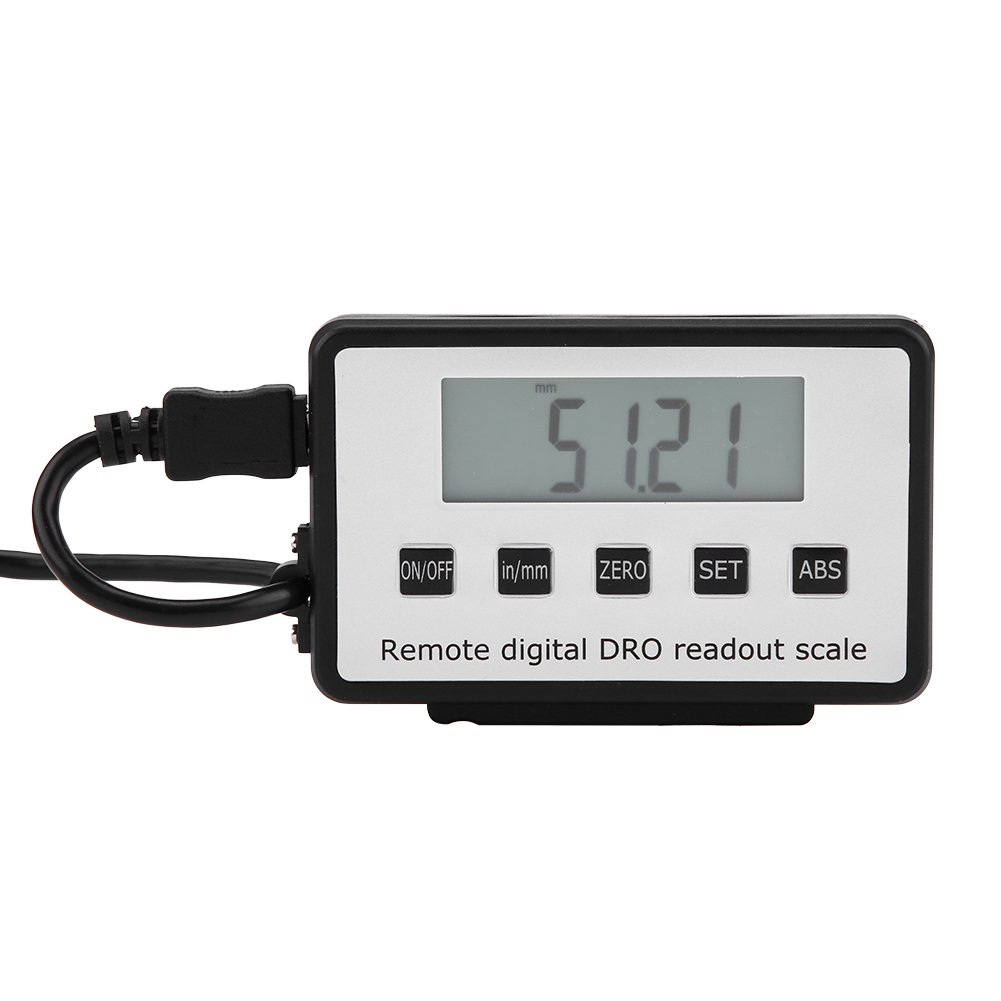 8 Accurate Digital Large LCD Readout Linear Scale Kit for Milling Machines Lathes 0-8 Measure Range Wal front
