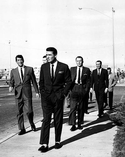 Oceans Eleven Sinatra Martin Lawford Walk On Vegas Strip 8x10 HD Aluminum Wall - 10 Ocean Walk