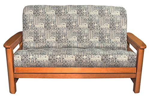 LifeStyle Exclusives Luxury Full Size Futon Cover Fits Mattress 54 by 75 up to 6 to 8 Inches Thick (Santa Fe)