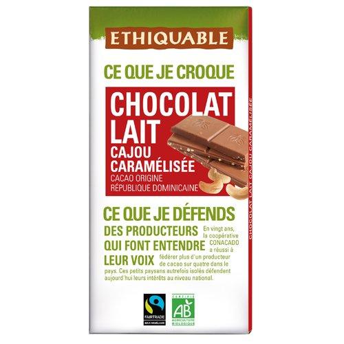 Ethiquable Chocolate Leche y Anacardos Bio - 100 gr: Amazon.es: Alimentación y bebidas