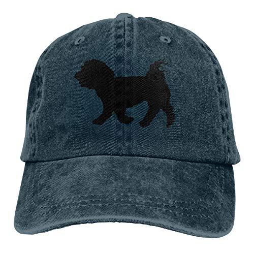 - Unisex Adjustable Baseball Cap Maltese Dog Silhouette Classic Hat Navy