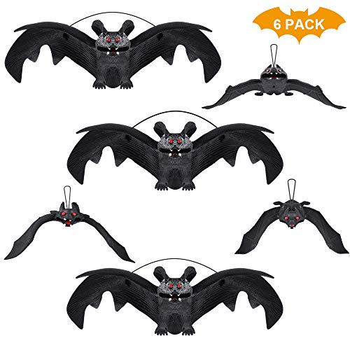 Halloween Bat Decoration (HANPURE Halloween Decoration, Halloween Party Supplies 3D Halloween Bat Decoration Hanging Bat Decorative Scary Bats Halloween Party Favors and)