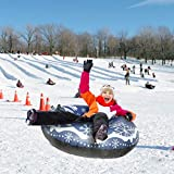 Snow Tube, 47 Inch Inflatable Snow Sled for Kids