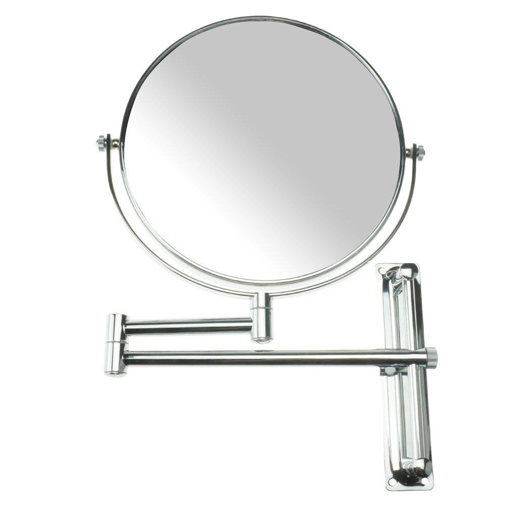 Lansi 10x Magnifying Wall Mounted Makeup Mirror,10X Magnification Makeup Mirror Adjustable Height Double-Sided Mirrors for Bathroom Vanity, Round Shape by Lansi