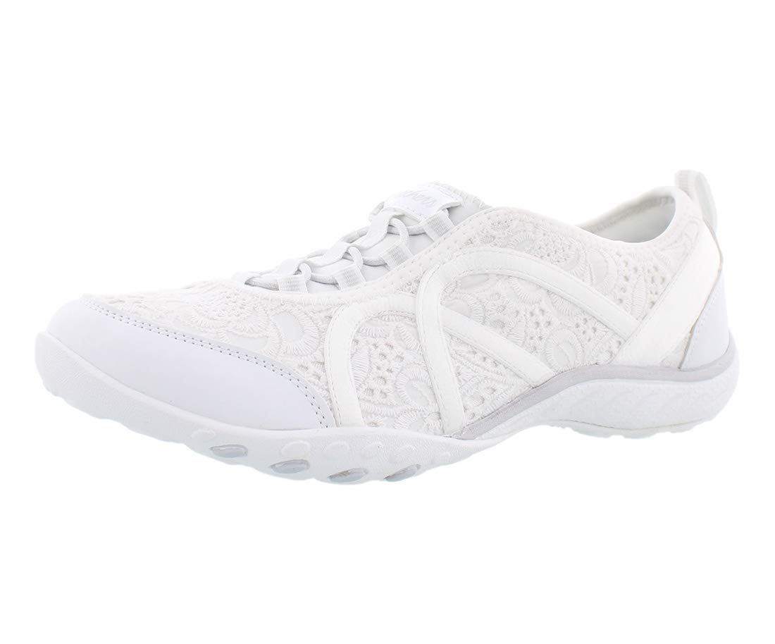 Skechers Women's Relaxed Fit¿: Breathe Easy - Elegant Glow White 8.5 B US by Skechers
