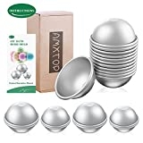 3 Sizes Multifunction DIY Metal Bath Bomb Mold with Comprehensive Instructions, 20 pieces Bath Bomb Mold Set, FDA Certified & BPA Free, Great for Crafting Your Own Bath Fizzies