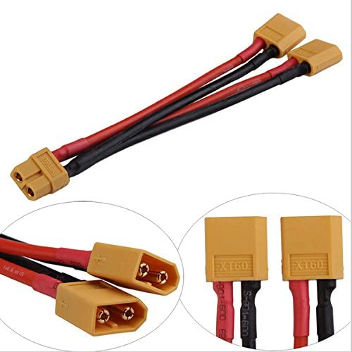 XT60 Parallel Battery Connector Cable Dual Extension Y Splitter