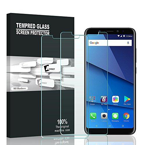 BLU Vivo XL3 PLUS Screen Protector, AVIDET 9H Hardness Premium Tempered Glass Screen Protector for BLU Vivo XL3 PLUS (2-Pack)