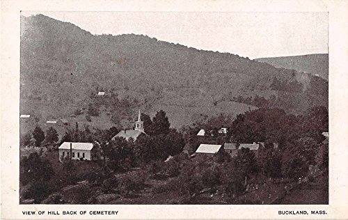 Buckland Massachusetts View of Hill Back of Cemetery Antique Postcard - Hills Buckland