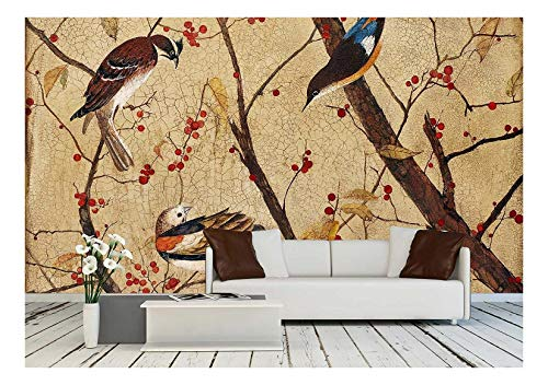 (wall26 - Acrylic, Wood, Lacquer. Artist - Tanya Kazantseva, Belarus, Minsk. ?Reation Date - 2011 - Removable Wall Mural | Self-adhesive Large Wallpaper - 100x144 inches)