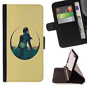 DEVIL CASE - FOR HTC Desire 820 - Hipster Bokeh Sci Fi Girl - Style PU Leather Case Wallet Flip Stand Flap Closure Cover