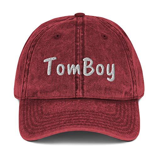 (Tomboy Vintage Cotton Twill Cap Maroon)