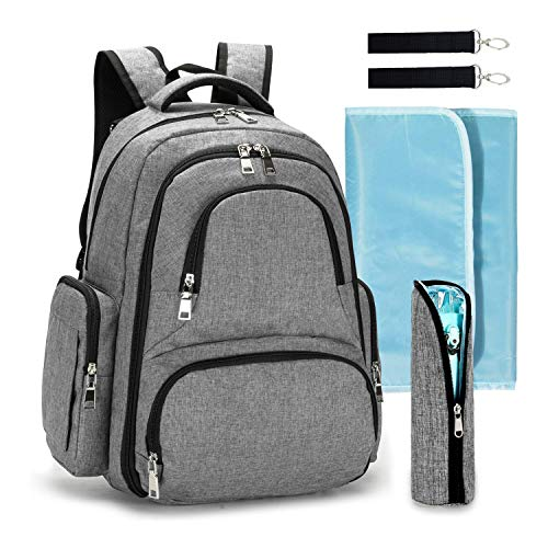 Baby Diaper Bag Multi-Function Portable Waterproof Nappy Large Backpack for Travel with Baby - Stroller Straps, Changing Mat Insulated Pockets Unisex Men Women Stylish Cute Design