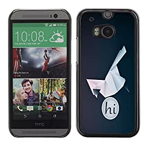 LECELL -- Funda protectora / Cubierta / Piel For HTC One M8 -- HI Origami Bird --