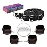 Cheap PKBQUEEN Bed Straps Kit Ties Exercise Bands with Adjustable 3D Embossed Leather Cuffs Fit Any Size Mattress