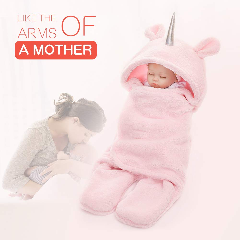 Unicorn Baby Swaddle Blanket Warm Winter Baby Girl Newborn Baby Girl Blanket Sof