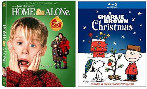 Home Alone 1 & A Charlie Brown Christmas 2-Blu-ray Christmas Bundle ()