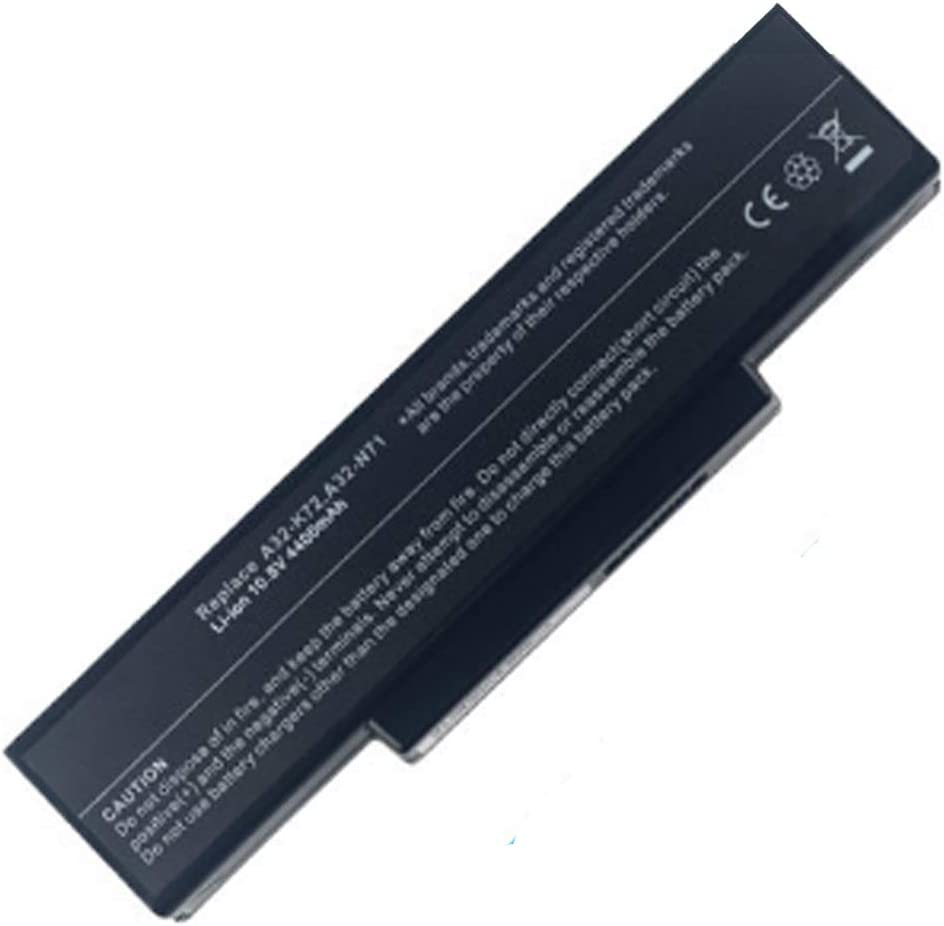 New Battery Compatible for Asus N73JN N73JQ N73Q N73S N73SD A32-K72 Battery Replacement 6 Cell 4400mAh