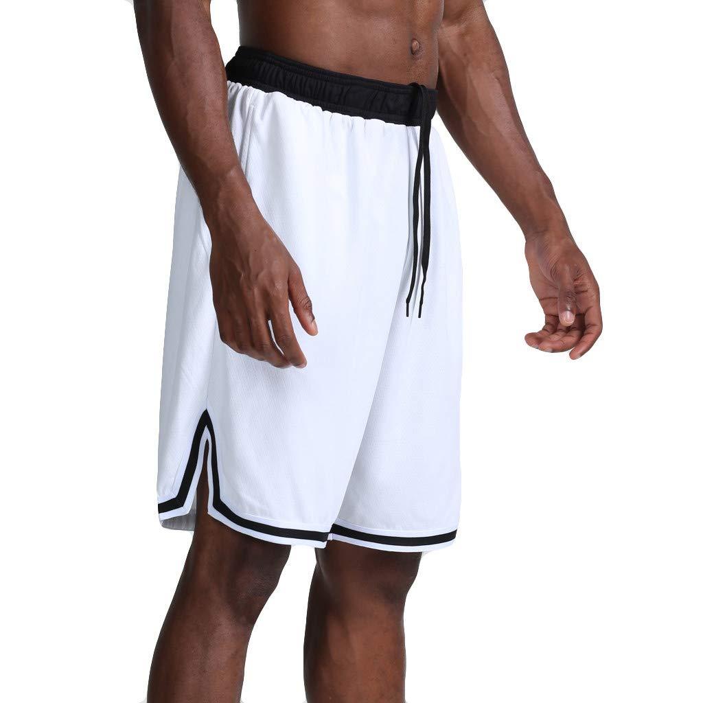 Men's Quick Dry Swimming Trunks Bathing Suit Shorts Striped Mesh Liner
