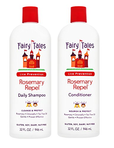 Fairy Tales Rosemary Repel Daily Kid Shampoo (32 Fl. Oz) & Conditioner (32 Fl. Oz) Duo for Lice Prevention