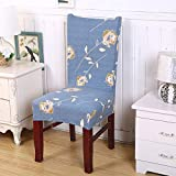 SHANYT Chair Cover 1/2/4/6 Piece Dining Chair Cover Tensile Elastic Detachable Anti-Dirty Lining Wedding Hotel Banquet Seat Cover -1,2Pcs Chair Covers