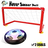 air ball toy - Kids Toys Hover Ball Set with 2 Goals, Gloween Air Power Soccer Disc for Indoor and Outdoor Activity, Kids Toys,Boy and Girl Amazing Hover Ball with LED Lights, Mini Screwdriver