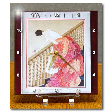 3drose-dc-174658-1-image-of-art-deco-french-vogue-cover-with-feather-dress-desk-clock-6-by-6-inch