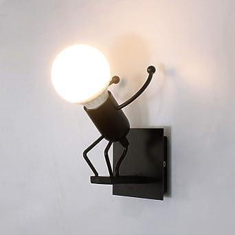 LED Lámpara de Pared, Robot Luz de Pared,Luz de pared industrial, Para Bar, Dormitorio, Cocina, Restaurante, Cafetería, Pasillo: Amazon.es: Iluminación