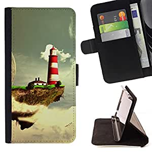 Momo Phone Case / Flip Funda de Cuero Case Cover - Fantasy Planet;;;;;;;; - LG Nexus 5 D820 D821