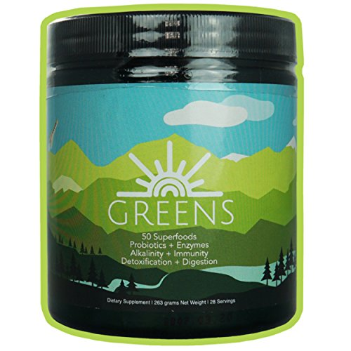 Helio Greens Powder - Great Tasting Vegan Superfood Blend with Vegetables, Herbs, Super Fruits, Digestive Enzymes, Vitamins, Minerals, 30Billion Probiotics (28 (Mangosteen Extract Powder)