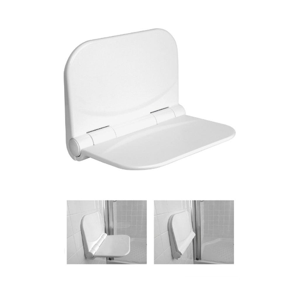 FERIDRAS Comfort Sgabello Doccia a Ribalta, Polipropilene, Bianco, 9x31x40 cm Brand 708001 FRDR-708001_Bianco
