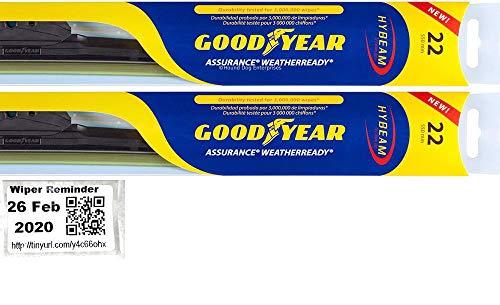 Assurance WeatherReady - Windshield Wiper Blade Bundle - 3 Items: Driver & Passenger Blades & Reminder Sticker fits 2008-2014 Chevrolet Silverado 1500 (LT)