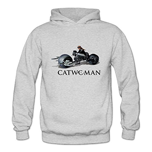 BOOMY Catwoman Motor Women's Hooded Sweatshirt SizeL (Michelle Pfeiffer Catwoman Costume)