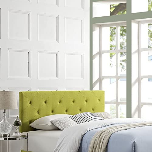 Modway Terisa Queen Upholstered Fabric Headboard in Wheatgrass
