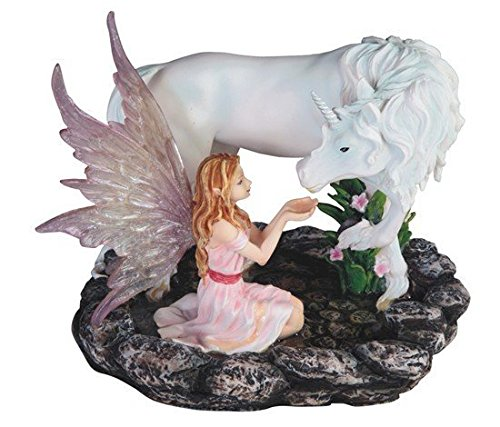 - StealStreet SS-G-91850 Pink Fairy Kneeling with White Unicorn Statue Figurine, 7