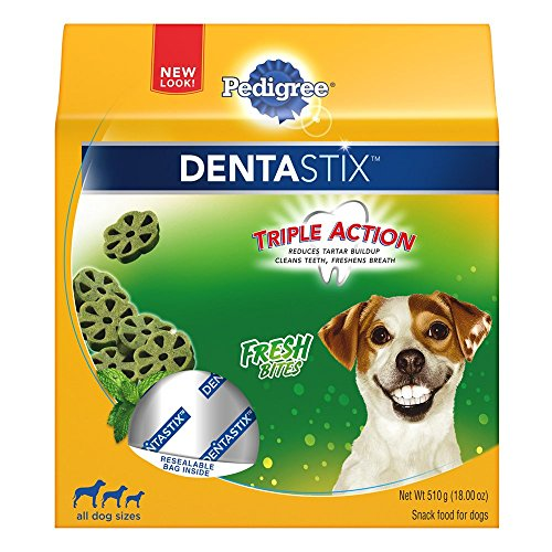 Dental Biscuits (PEDIGREE DENTASTIX Fresh Bites Treats for Dogs 18 Ounces,  Reduces Plaque and Tartar Buildup)