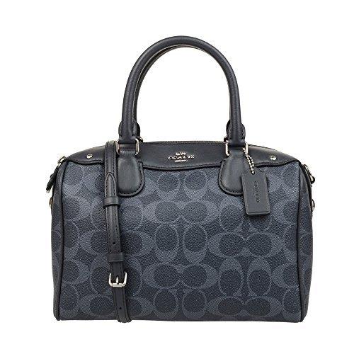 COACH Womens Leather Hand shoulder bag F57672 (Gray black)