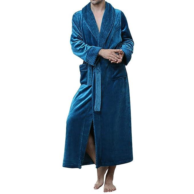 GODGETS Bata Mujer Invierno Albornoz Bata de Baño para Hombre Bata Suelto y Cómodo: Amazon.es: Ropa y accesorios