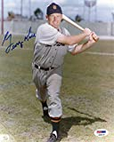 George Kell Detroit Tigers Autographed PSA/DNA Authenticated 8x10 Photo with Bat - Signed Photos