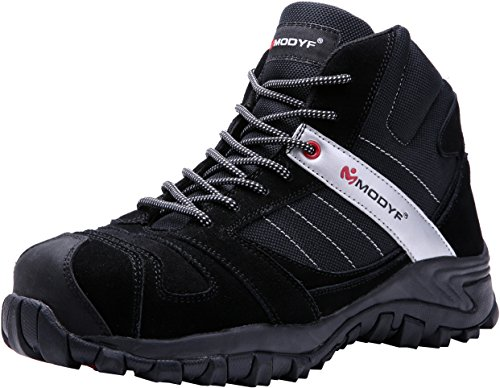 MODYF Work Safety Boots,Mens Steel Toe Casual Breathable Outdoor Protection Footwear