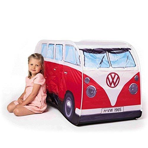 VW Bus Spielzelt in rot - Volkswagen Bulli Kinderspielzelt VW T1 Indoor Zelt Camper