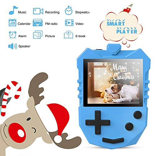 AGPTEK MP3 Player for Kids, K1 Portable 8GB Children Music Player with Built-in Speaker, FM Radio, Voice Recorder, Expandable Up to 128GB, Blue(Upgraded Version) by AGPTEK (Image #4)
